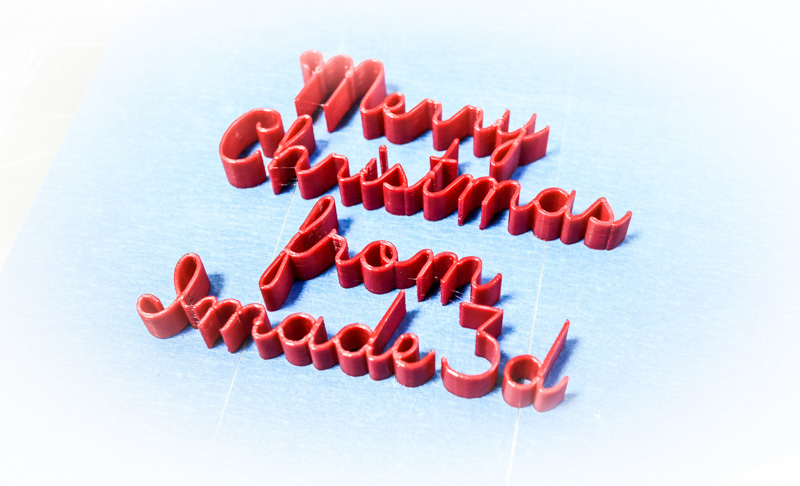 "Keep calm and 3D Print ""Merry Christmas!"""